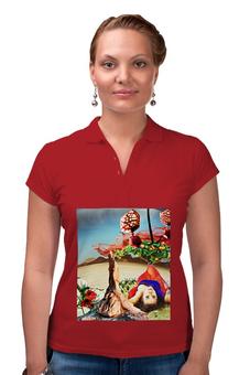 """Рубашка Поло """"Нега."""" - девушка, пустыня, апельсины, расслабление, нега"""