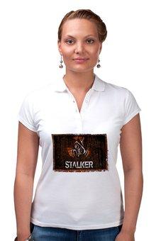 """Рубашка Поло """"Сталкер"""" - кино, сериал, сталкер, чернобыль, зона отчуждения"""