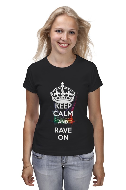 Футболка классическая Printio Eat sleep rave repeat футболка wearcraft premium printio eat sleep rave repeat