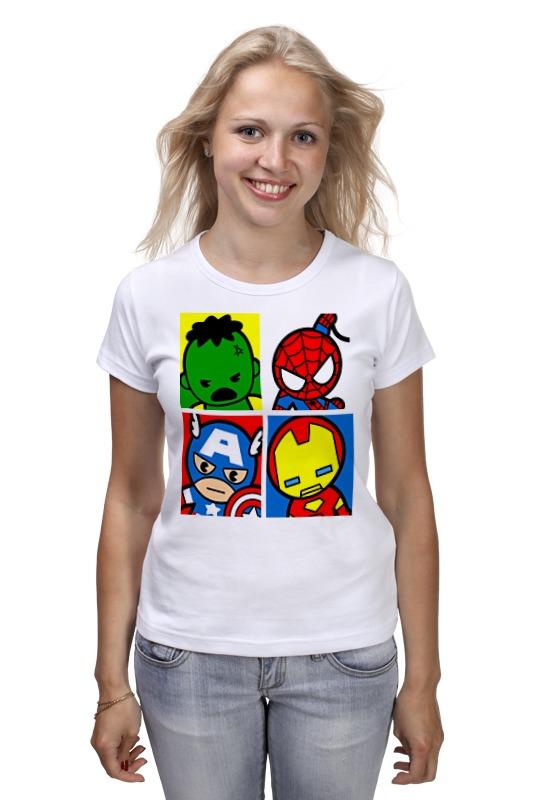 Футболка классическая Printio Мстители капитан америка удивительный человек паук 2 железный человек перчатки мультфильм детей игрушки передатчик