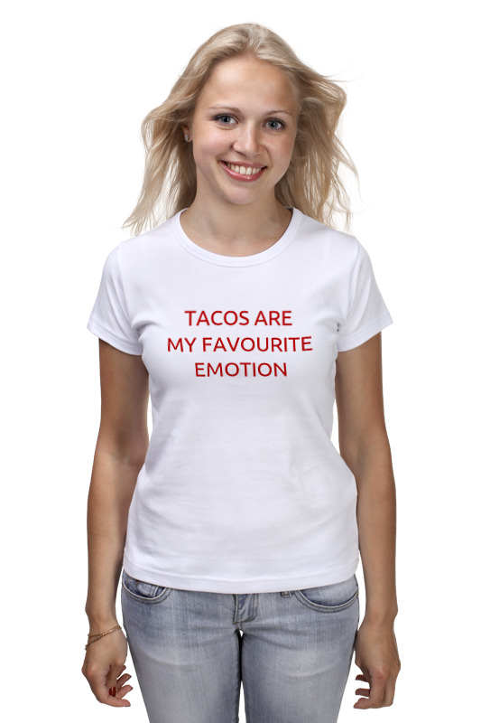 Футболка классическая Printio Tacos are my favourite emotion feed me tacos graphic long tank top