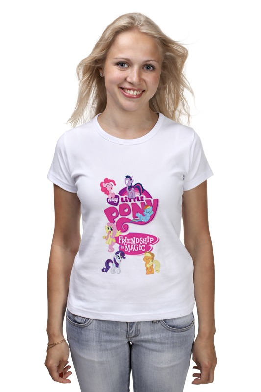 Футболка классическая Printio My little pony: friendship is magic logo сумка printio my little pony friendship is magic logo
