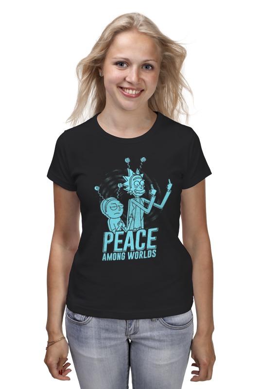 Футболка классическая Printio Рик и морти футболка классическая printio peace among worlds рик санчез