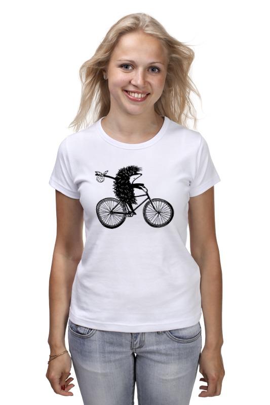 Футболка классическая Printio Ежик на велосипеде 2