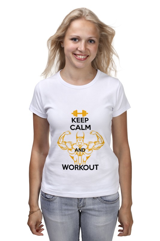 Футболка классическая Printio Keep calm and workout сумка printio keep calm and ski on
