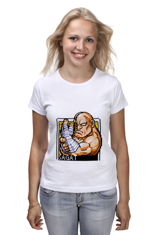 Футболка классическая Printio Street fighter sagat hoodie inclined zipper striped hoodie