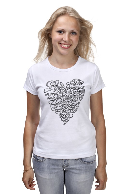 Футболка классическая Printio Love lettering (сердце с надписью) футболка с надписью фскн