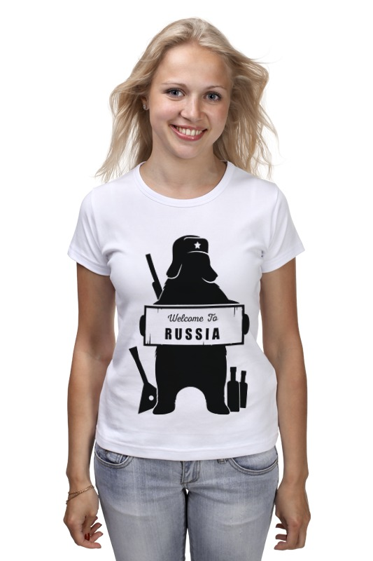 Футболка классическая Printio Welcome to russia штаны прямые quiksilver everyday chino elmwood