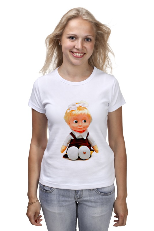 Футболка классическая Printio Кукла-девочка маша из мульта. смешная озорная. кукла yako m6579 6