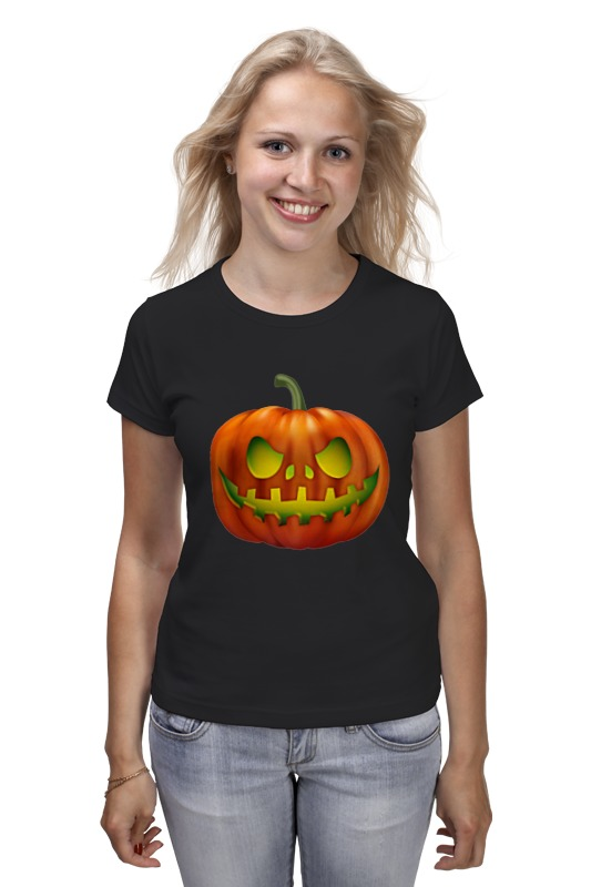 Футболка классическая Printio Glowing pumpkin plus size pumpkin halloween ripped sweater