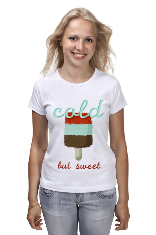 Фото - Футболка классическая Printio Ice-cream t-shirt pink lace details cold shoulder long sleeves t shirt