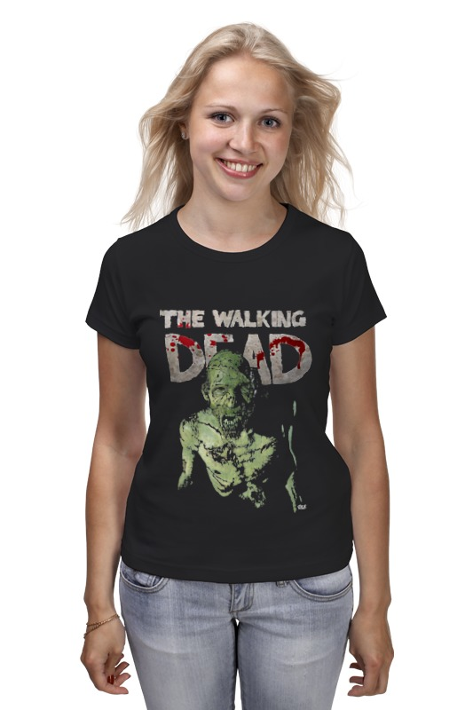 Футболка классическая Printio The walking dead chic the walking dead rick grimes pattern square shape flax pillowcase without pillow inner
