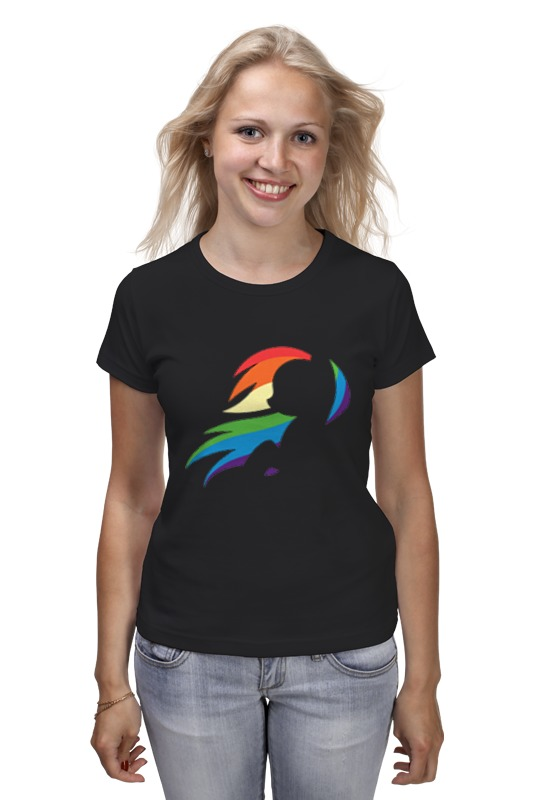 Printio Rainbow dash black printio rainbow dash black