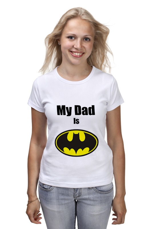 Футболка классическая Printio My dad is batman just me and my dad little critter
