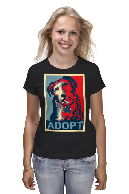Printio «adopt a dog!», в стиле obey приют для собак спб
