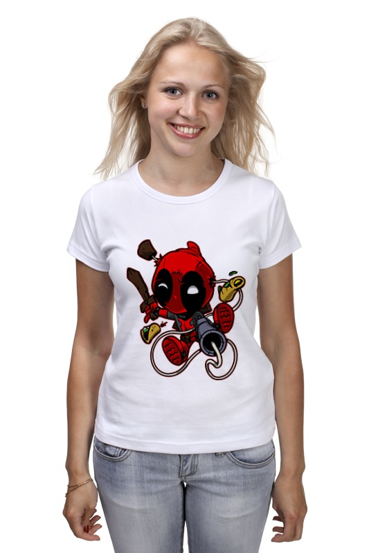Футболка классическая Printio Deadpool футболка стрэйч printio crazy deadpool