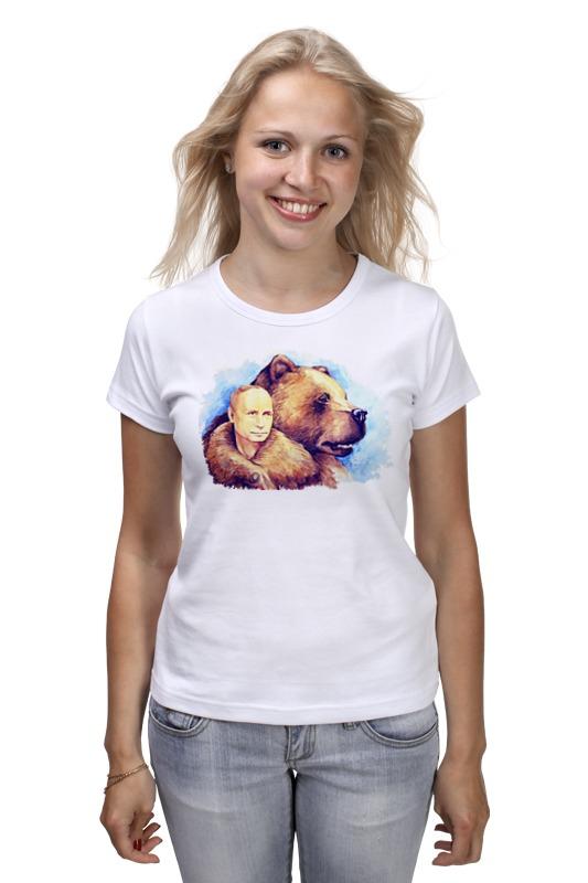 Футболка классическая Printio Путин и российский медведь кепка printio путин и российский медведь