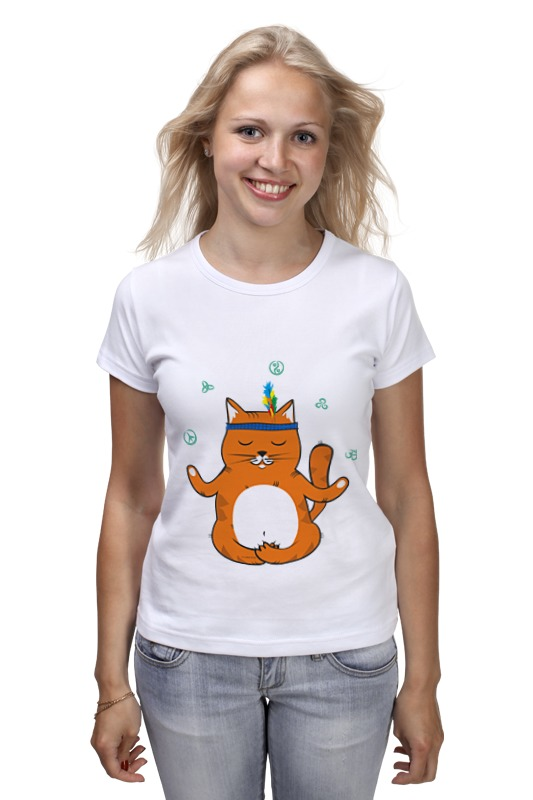 Футболка классическая Printio Рыжий котик don't panic be cool - it's idea shop футболка wearcraft premium printio рыжий котик don t panic be cool it s idea shop