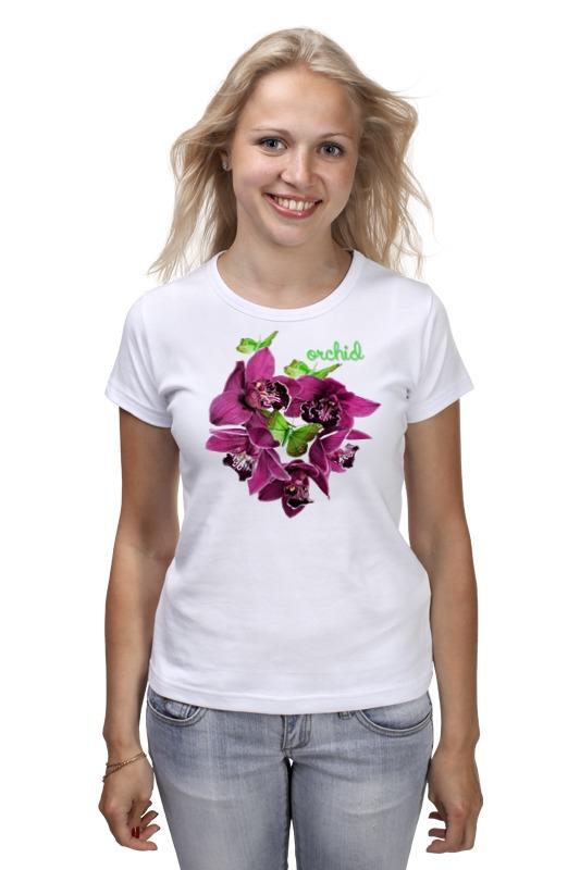 купить Футболка классическая Printio Круг орхидей по цене 889 рублей