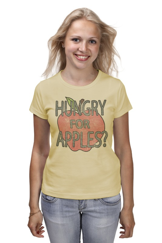 Футболка классическая Printio Hungry for apples? рик и морти кронштейн для душа grohe rainshower 27074ls0