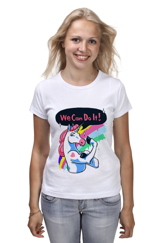 Футболка классическая Printio We can do it! (unicorn) can we still be friends