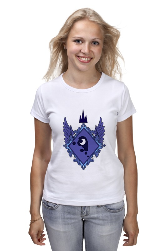 Футболка классическая Printio My little pony - герб princess luna (луна) the pony mad princess princess ellie s christmas
