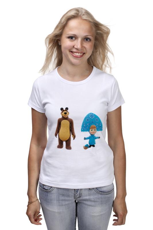 Футболка классическая Printio Кукла-девочка маша и миша. смешные озорные кукла yako m6579 6