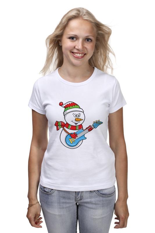 Printio Снеговик с гитарой футболка классическая printio снеговик