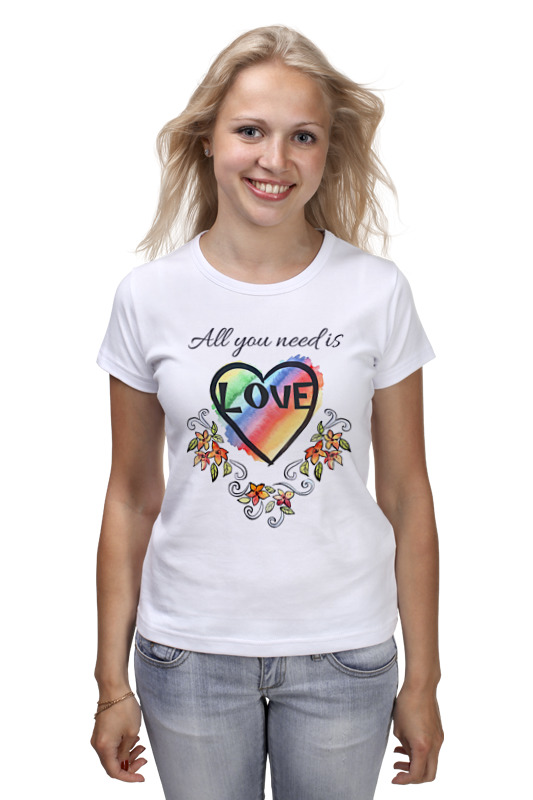 Футболка классическая Printio All you need is love all you need is flowers