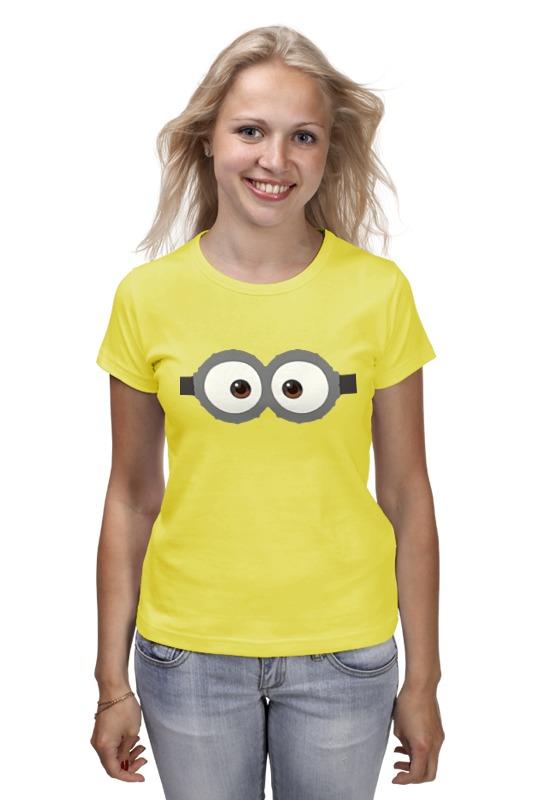 Футболка классическая Printio Глаза миньона серая футболка для мальчика миньона 38