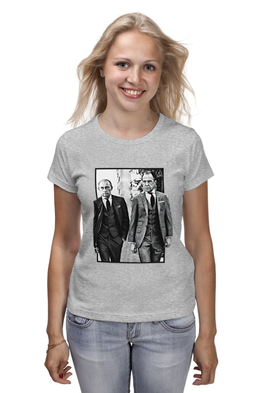 Футболка классическая Printio Путин и лавров футболка классическая printio путин и лавров