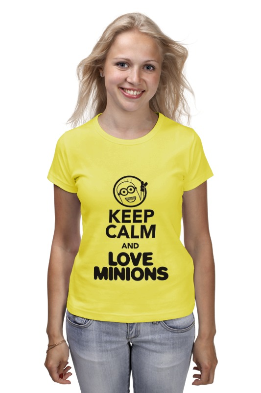 Футболка классическая Printio Keep calm & love minions футболка классическая printio keep calm until laters baby 50 оттенков серого