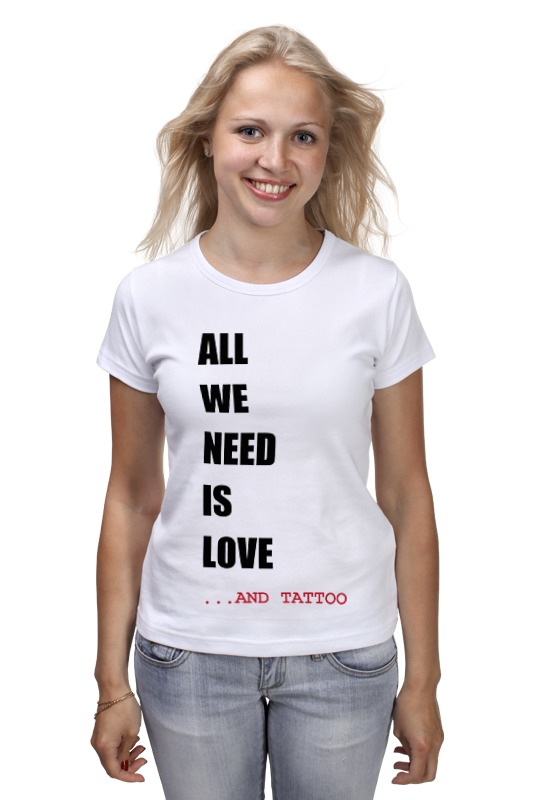 Футболка классическая Printio All we need is love сумка printio all we need is love m