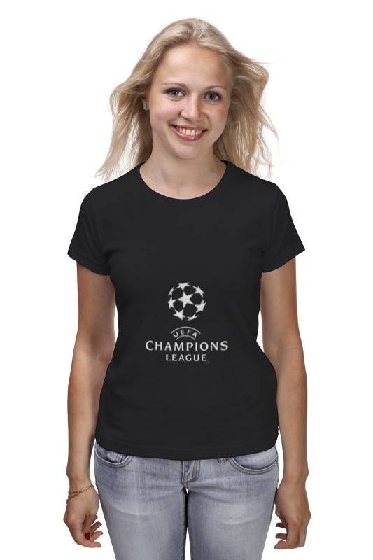 Футболка классическая Printio Uefa  champions league customized crystal trophy engraved logo or words sports souvenirs grammy award glass champions rewards league cup