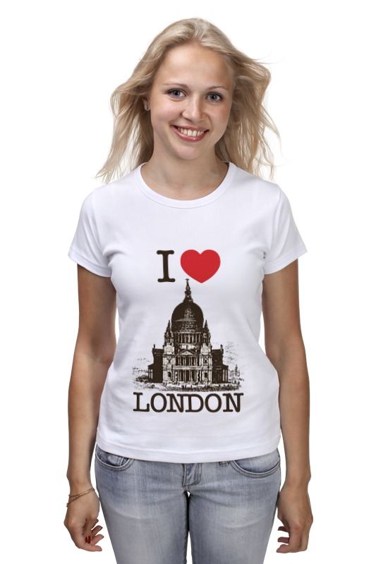Футболка классическая Printio I love london waterproof creative words letters i love travel wall stickers