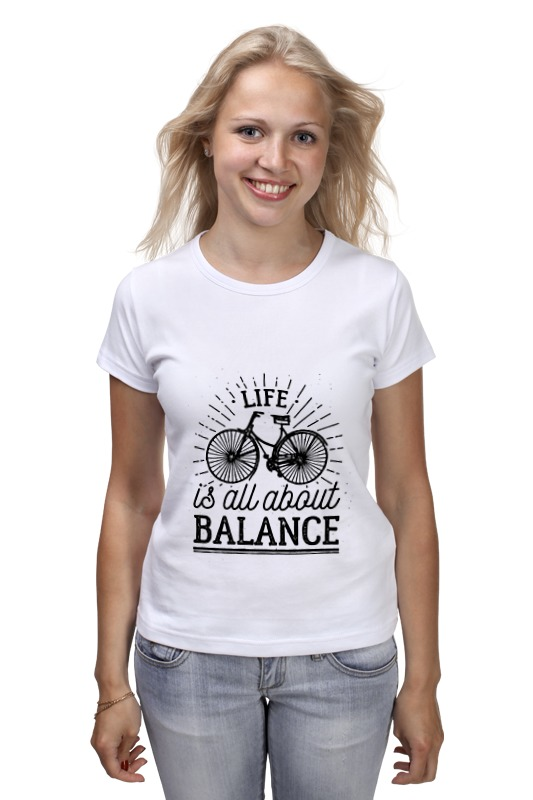 Футболка классическая Printio Life is all about balance! all about money
