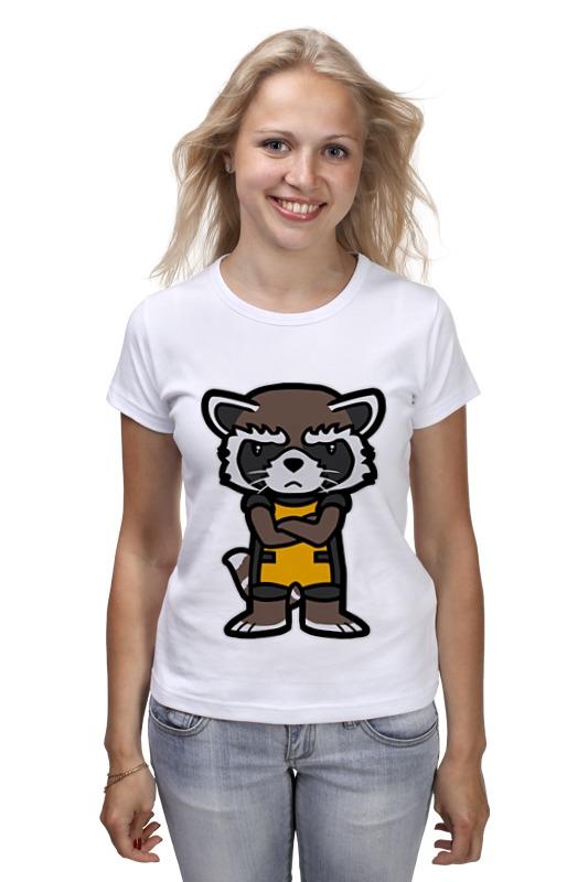 Футболка классическая Printio Реактивный енот (rocket raccoon) лонгслив printio реактивный енот rocket raccoon