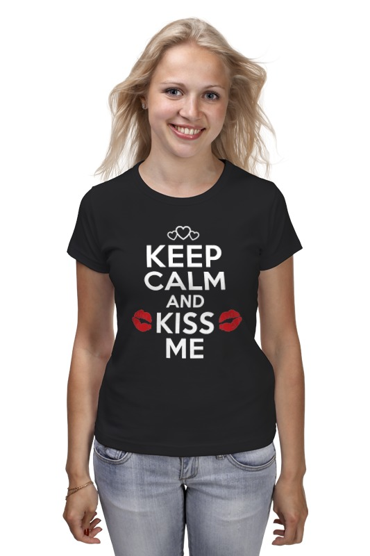 Футболка классическая Printio Keep calm and kiss me kissme kiss me