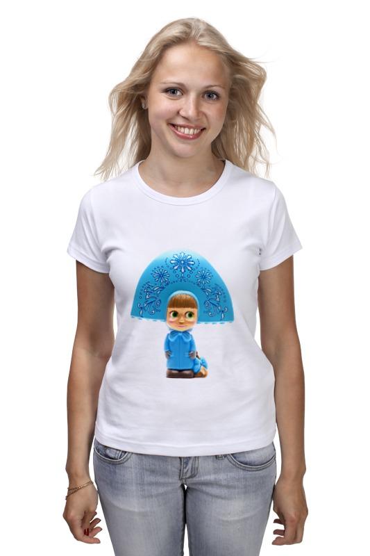 Футболка классическая Printio Кукла-девочка маша из мульта. смешная озорная кукла yako m6579 6