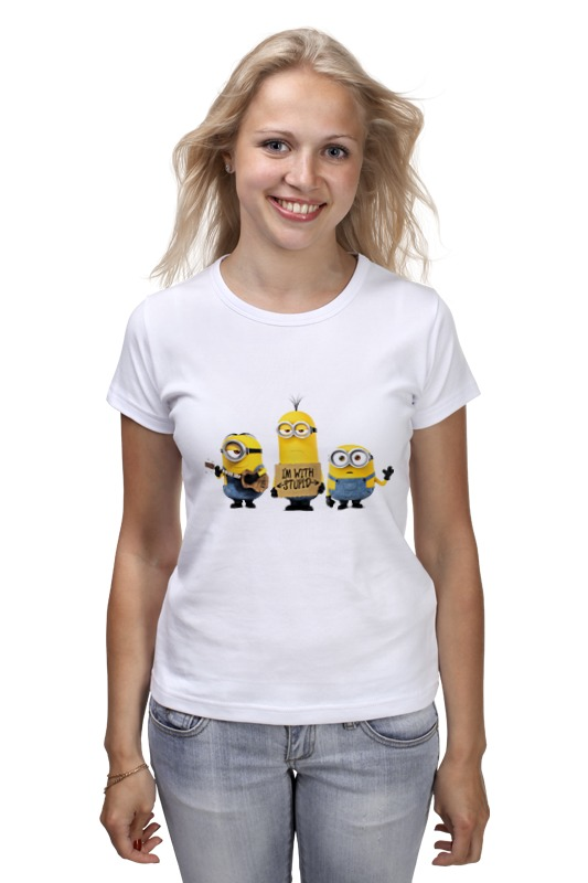 Футболка классическая Printio Minions i'm with stupid premium uv camera lens filter 67mm
