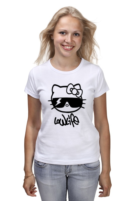 Футболка классическая Printio Hello kitty-low life сумка printio hello kitty low life