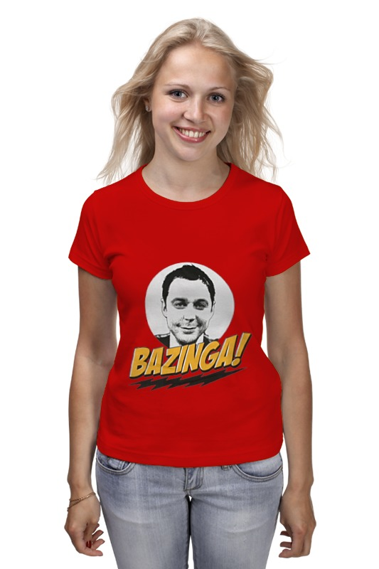 Футболка классическая Printio The big bang theory sheldon cooper the big bang theory series the flash design cotton t shirt red size m