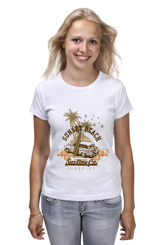 Футболка классическая Printio ....sunset beach....пляж футболка wearcraft premium printio sunset beach пляж