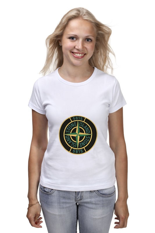 Футболка классическая Printio Stone island christmas santa claus high low plus size t shirt