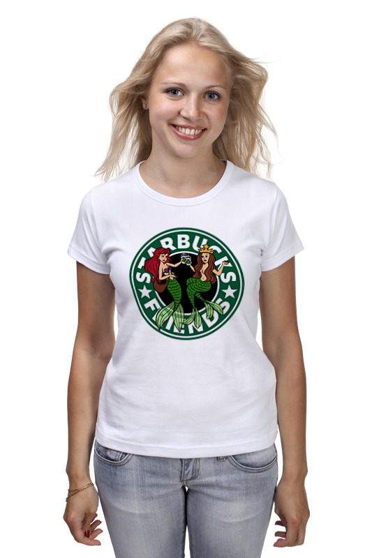 Футболка классическая Printio Starbucks футболка стрэйч printio belles book cafe starbucks