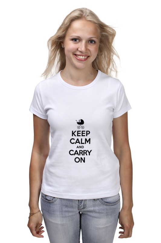 Футболка классическая Printio Keep calm & carry on футболка wearcraft premium printio keep calm