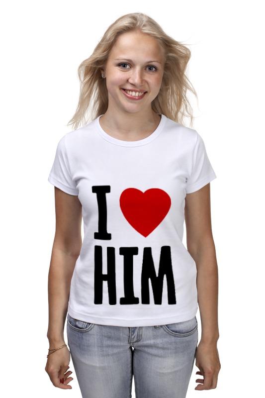 Футболка классическая Printio I love him футболка print bar him