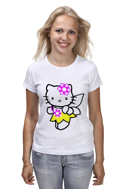 Футболка классическая Printio Кот кошка. hello kitty.любимый герой мульт. цены онлайн