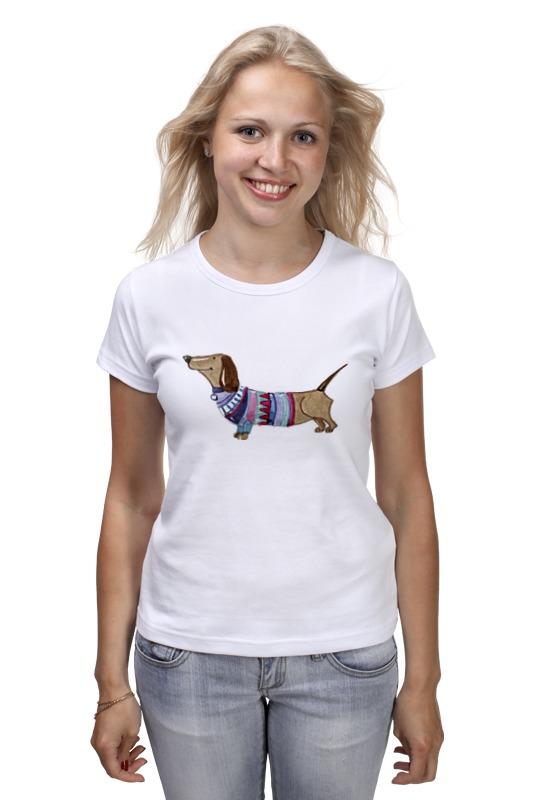 Футболка классическая Printio Акварельная такса футболка классическая printio акварельная новогодняя забавная собака