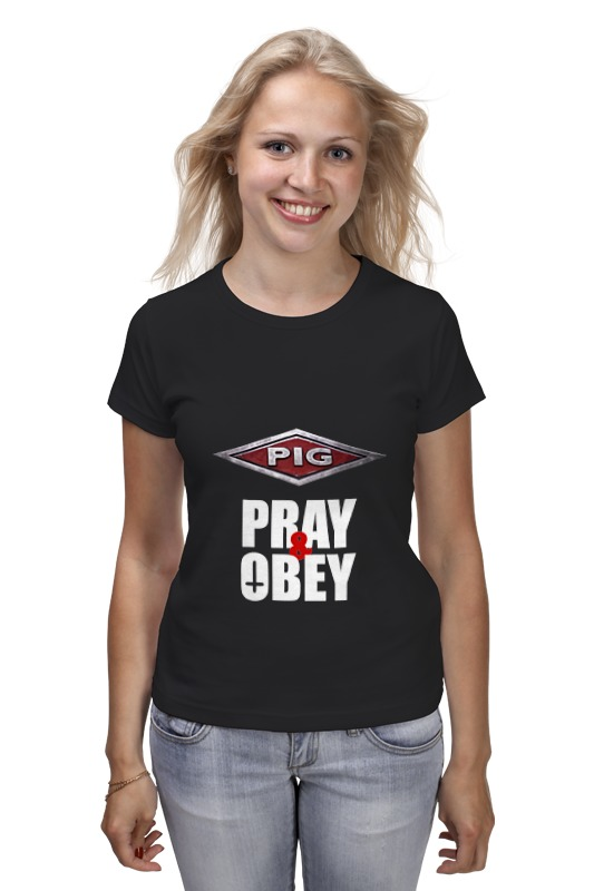 Футболка классическая Printio Pig / pray & obey футболка pig basic slimfit brown